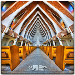 The Holy Ribcage (Ryan Eng) Tags: church architecture hawaii cross waikiki oahu chapel holy frontpage dri hdr sigma1020mm saintaugustine interestingnesspage digitalblending explore2 nikond90 vertorama ryaneng