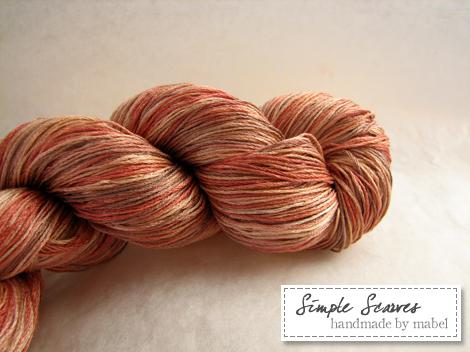 Pure silk 4 ply lace in Peach Melba