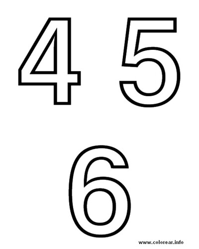 numeros para colorear. Newest photo →; numeros middot; numero-4-5-6-