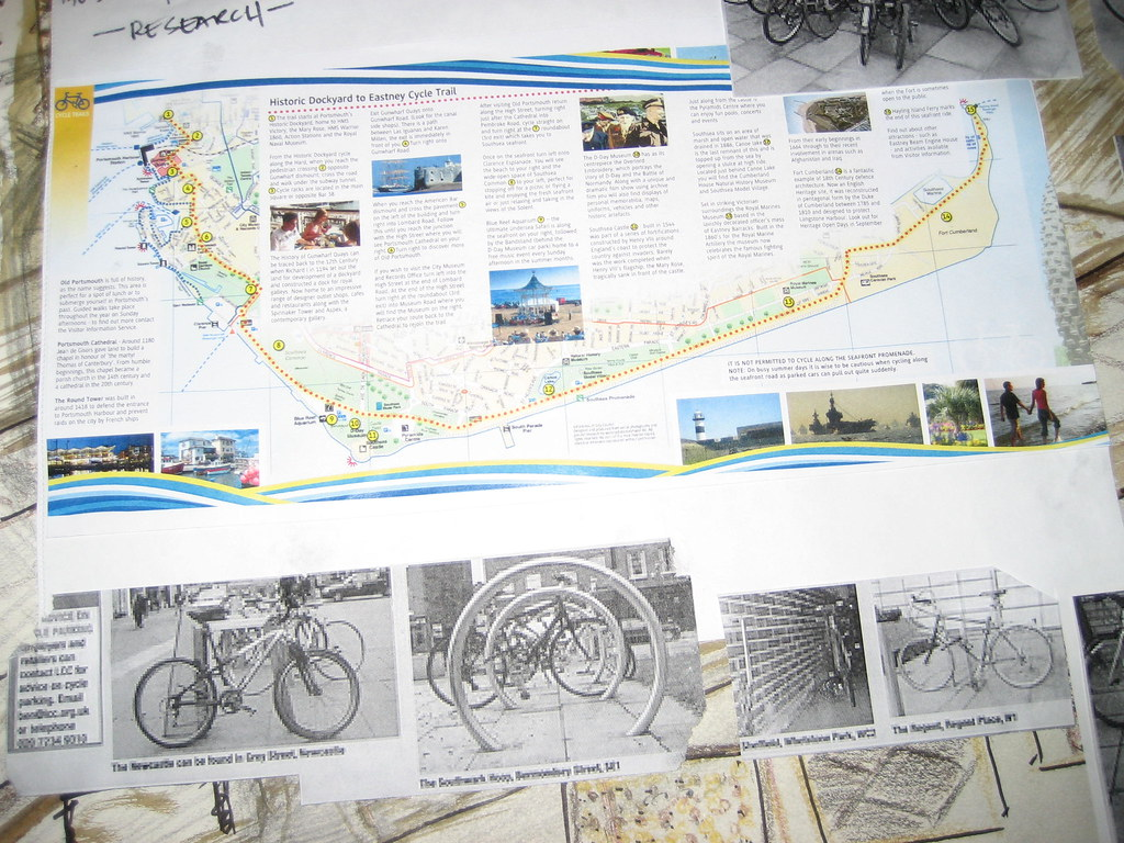 The cycling map at water front  and some other bike stand from other project elsewhere