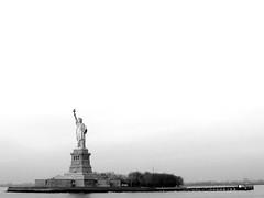 Liberty (PJSherris) Tags: newyorkcity bw ny newyork statue liberty island blackwhite olympus historical statueofliberty monuments libertyisland newyorkharbor olympusc4040z c4040z