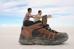Shoe (ravikjolly) Tags: de bolivia fotos salar uyuni chistostas
