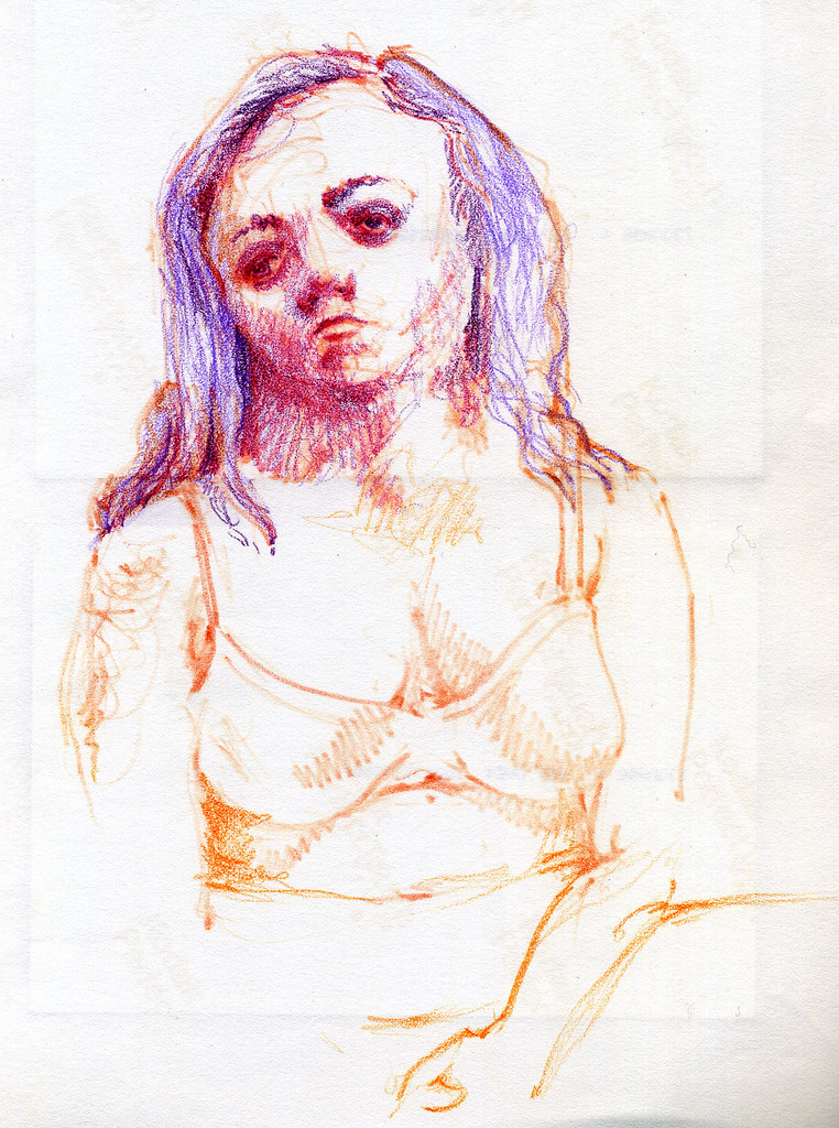Redhead, ink on paper, 2009 by Sarah Atlee