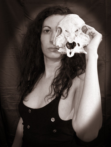BONELUST - Self Portrait with Skull of Wild Boar & Domestic Pot-bellied Pig Mix 3