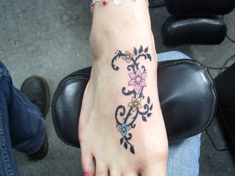 Foot Tattoos More foot tattoos at