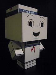 stay puft (AS500) Tags: macro paper craft cardboard ghostbusters stay puft cubeecraft