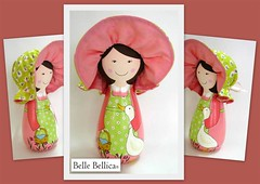 Uma outra Mary Jane!!! (Belle Bellica) Tags: wood pink flowers flores hat cat painting duck doll rosa craft gato pato handpainted boneca avental madeira maryjane pintura chapéu woodendoll bellebellica