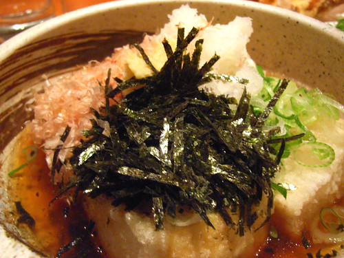 Agedashi tofu @Sake Bar Hagi by you.