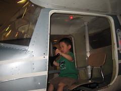 Owen test driving the plane