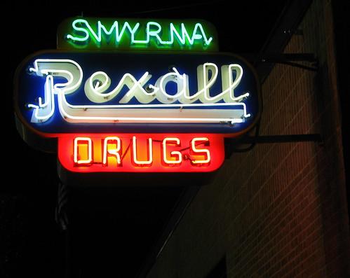 Smyrna Rexall neon sign