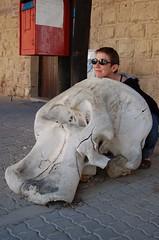 Katie & elephant skull