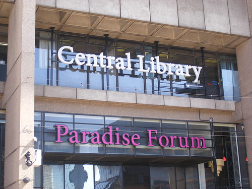 Birmingham Central Library and Paradise Forum