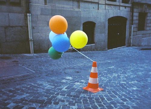 Cone & Balloons