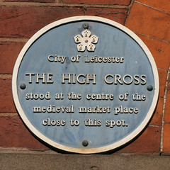 Photo of High Cross, Leicester blue plaque