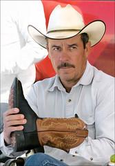New Mexico Flea Market (newmexico51) Tags: man newmexico hat route66 cowboy boots albuquerque april mustache nm cowboyhat fleamarket homem hombre homme 2010 cowboyboots vaquero bigote