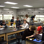 "Students Working in Organic Chemistry<a href=""http://farm4.static.flickr.com/3364/4574519159_fe9f20e346_o.jpg"" title=""High res"">∝</a>"