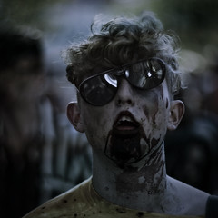 their numbers grow, while ours diminish (Douglas E Pope) Tags: portrait 6x6 square dead interestingness bokeh zombie rally grain melbourne squareformat hate 7d undead zombies 58mm soulless splatter splat melbournecbd audel 14f abstractportrait melbournezombieshuffle artemo canon7d beyondbokeh
