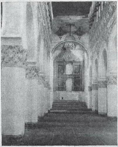 Sinagoga de Santa María la Blanca hacia 1930. Fotografía de Pedro Román Martínez para revista Mundo Gráfico