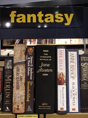 The newest fantasy writer (DameBoudicca) Tags: classic austen strange book sweden schweden literature fantasy sverige bookshop malmö janeausten suecia suède svezia sfbokhandeln