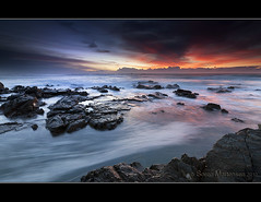 The Colours of Morning (danishpm) Tags: ocean seascape clouds sunrise canon rocks colours australia wideangle nsw aussie aus 1020mm manfrotto sigmalens eos450d hastingspoint 450d 06nd 09nd tweedshire hitechgradfilters sorenmartrensen