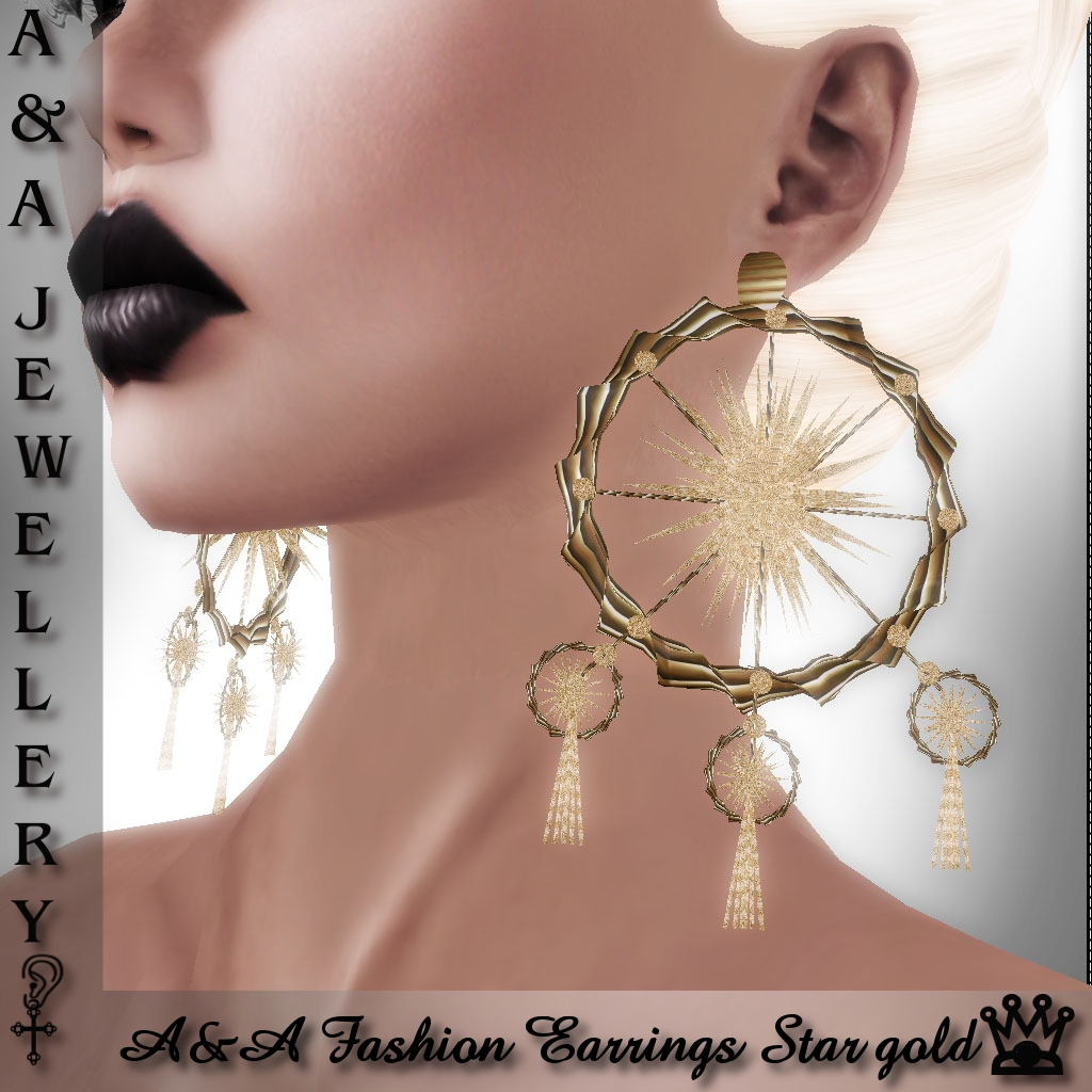 A&A Fashion Earrings Star Gold