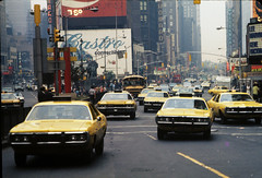 Give My Regards To Broadway (eks4003) Tags: nyc newyorkcity taxi broadway yellowcab timessquare cabbie travisbickle taxidriver hack gotham 1972 fare checker