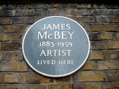 Photo of James McBey grey plaque