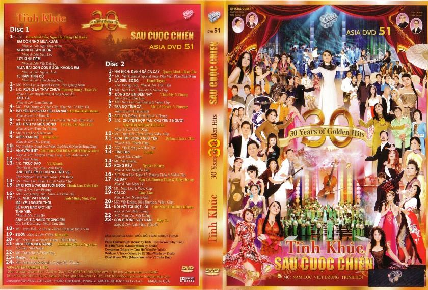 ASIA 51: Tình khúc sau cuộc chiến / Nhạc vàng 30 năm - 30 Years Of Golden Hits (2006)