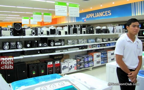 Appliance Section in SM Supermarket (Hypermarket, is that you?) :)