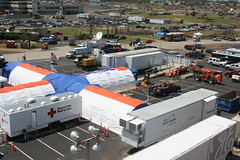 Mobile Hospital - arial view (Mercy Images) Tags: hospital stjohns tornado mercy joplin mobilehospital