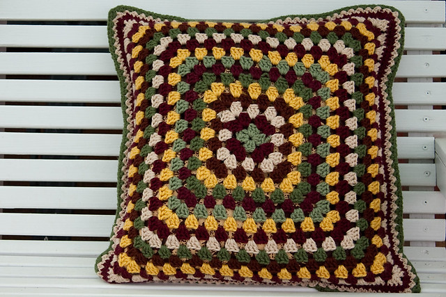 Subdued Granny Cushion - Back