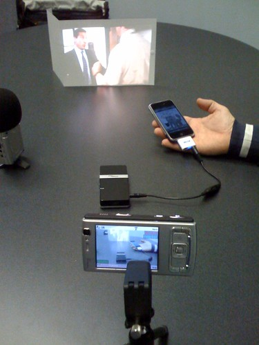 Very very small iPhone movie projector