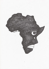 African child (B A Y S A L) Tags: africa white black art illustration peace child trkiye cartoon grafik caricature afrika imperialism alk baysal ercanbaysal