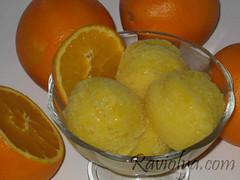 Фото апельсиновое сорбе