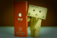 What ! You bought another iPod? (kktp_) Tags: apple toy thailand robot nikon ipod cardboard nano danbo amazoncojp d80 revoltech productred danboard