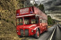 double decker (Kris Kros) Tags: california ca uk red bus london photography for coast high highway bravo shot searchthebest dynamic pacific before it double pch british routemaster today range hdr hire kkg decker rained photomatix kriskros 5xp saariysqualitypictures kkgallery