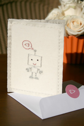 Robot Love Valentine Card (boy)