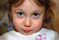 """What you talking about.. (LisaRodriguez) Tags: funnyface closeup children kid child smirk lisarodriguez facialexpressions heterochromia childportrait amazingeyes childseyes childportraits betterthangood twoeyecolors"