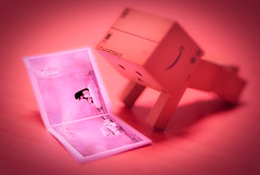 He love fairy tale too (kktp_) Tags: fairytale toy book nikon danbo 50mmf14d d80 revoltech nospeedlight danboard