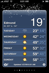 Snow in Edmond, Oklahoma