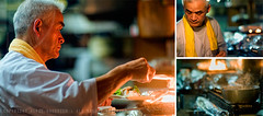 The Cook: A Triptych; Yurakucho, Tokyo (Alfie | Japanorama) Tags: man hot cooking kitchen japan work asian fire japanese tokyo three asia warm triptych photos flames working pot photographs stove chef montage heat chopsticks pan izakaya cooker range ftps nikond300 nikkor85mmf14afd projectcook