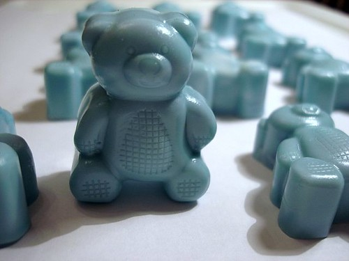 Its a Boy Baby Blue Teddy Bears Goats Milk Coconut Scented 6 Mini Soaps