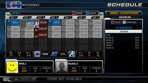 MLB 09 The Show League Schedule