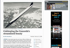 Celebrating the Concorde's streamlined beauty - International Herald Tribune_1235668121681