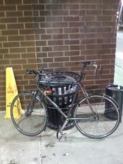 Bike parking at a strip mall