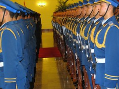 Chinese Military in Great Hall of the People (Photo by Constantine Markides)