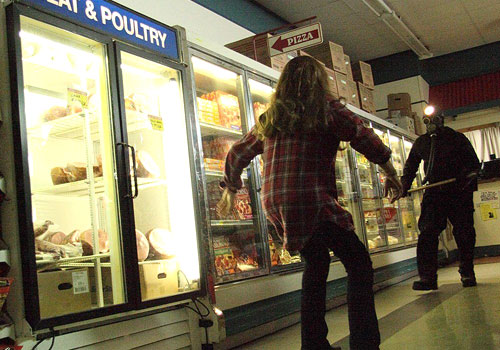 Grocery Store Scene in My Bloody Valentine 3D
