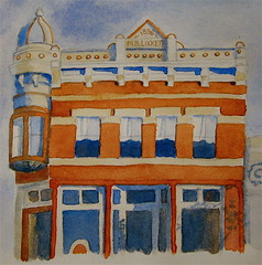 The M. B. Lockett Building (bettyfromtexas) Tags: architecture watercolor texas journal historicbuilding