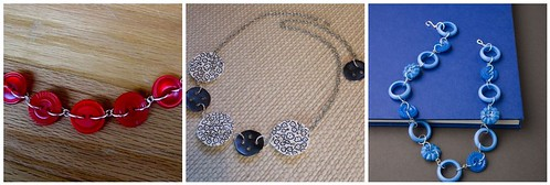 Button Link Necklaces - three ways!