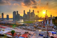 Marina Bay construction site